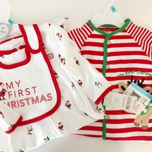 NWT Carter's / Little Me Christmas Sleepers 6M